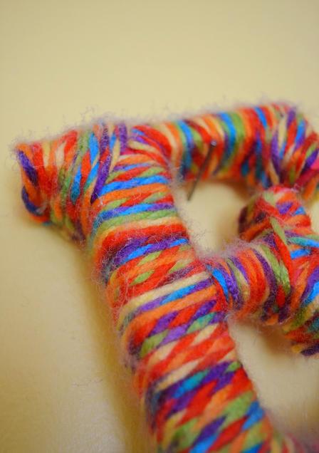 yarn initial diy