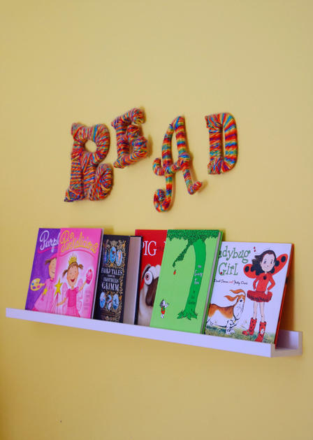 picture book shelf display