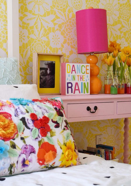 painted nightstand